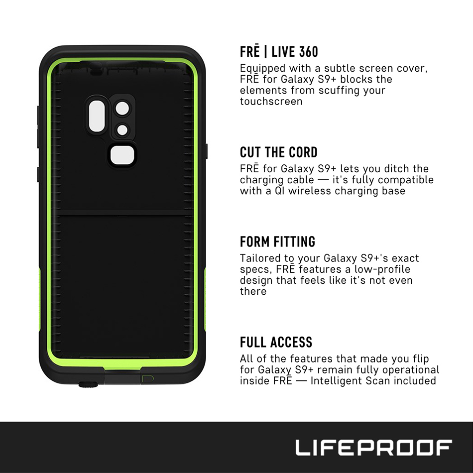 buy popular 4a8b1 8af79 LifeProof Fre Waterproof Case - Samsung Galaxy S9+ (Black)